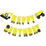 BESTOYARD 誕生日 HAPPY BIRTHDAY バナー ガーランド トラック 車 誕生日 デコレーション 紙製 部屋飾り パーティー用品