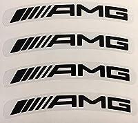 Mercedes AMG heel Rim Sticker メルセデスAMG ベンツ ホイル ホイール ステッカー シール デカール 8枚セット クリア