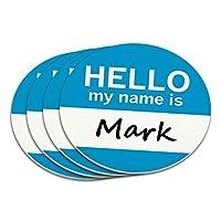 マークこんにちは、私の名前はコースターセット