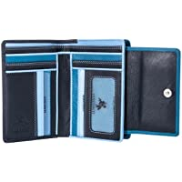 Visconti RB98 Multi Colored Soft Leather Ladies/Girls Compact Bifold Wallet & Purse