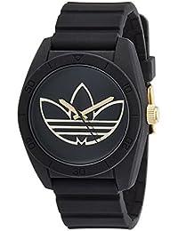 [アディダス オリジナルス] adidas originals メンズ レディース サンティアゴ ブラック&ゴールド ADH3197 腕時計 [並行輸入品]