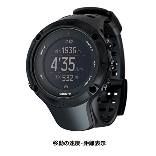 SUUNTO(スント) AMBIT3 PEAK BLACK (HR) 【日本正規品】 時刻表示 GPS コンパス 心拍計 Bluetooth [メーカー保証2年]