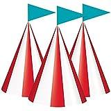 Rimi Hanger サーカス カーニバル パーティー コーンハット 8個パック 子供用 ファンシーパーティー用品 アクセサリー ワンサイズ One Size (Pack of 8) マルチカラー 5244#US