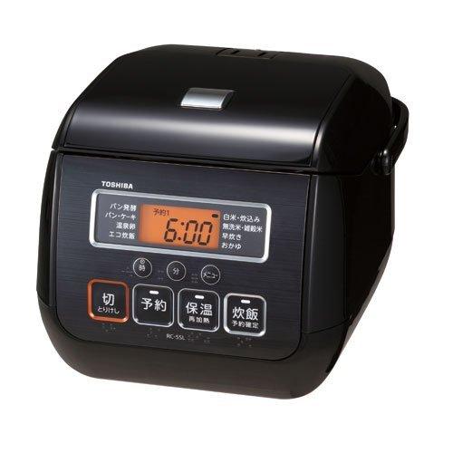 東芝 マイコンジャー炊飯器(3合炊き) ブラックTOSHIBA RC-5SL-K