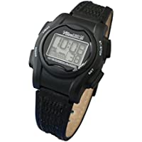 VibraLITE 12 MINI - Black Leather Band - Vibrating Alarm Reminder Watch - TabTimer TTW-VM-LBK