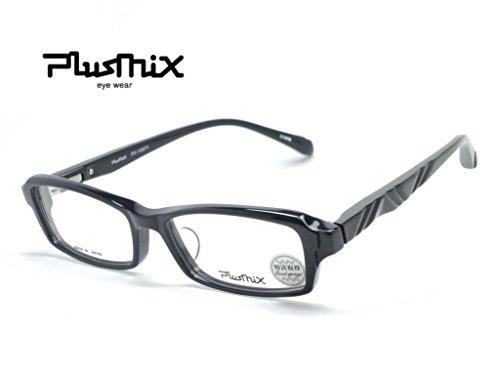 Plusmix PX-13271 カラー040 (黒) メンズ メガネ メガ・・・