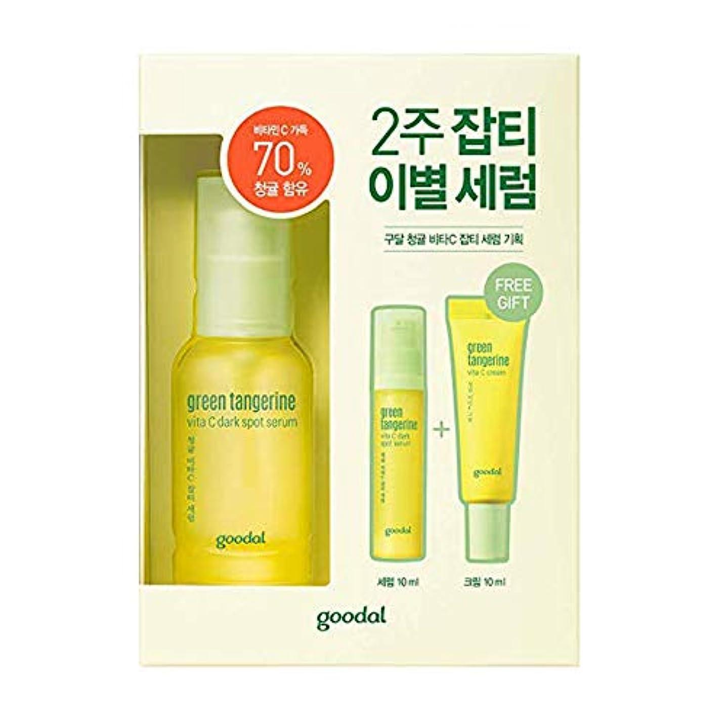 優越要旨選択Goodal Green Tangerine Vita C Dark Spot Serum Set チョンギュル、ビタC汚れセラムセット [並行輸入品]