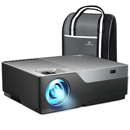 Vankyo 1080pフルHDプロジェクターV600 データプロジェクター 4500ルーメン 1920×1080ネイティブ解像度 4KフルHD対応 300インチ 大画面 高コントラスト5000:1 ビジネス用とホームシアター両用のプロジェクター