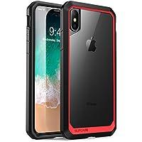 SUPCASE iPhonex ケース ワイヤレス充電対応 米軍MIL規格 高耐久ケース Unicorn Beetle シリーズ 赤/黒い
