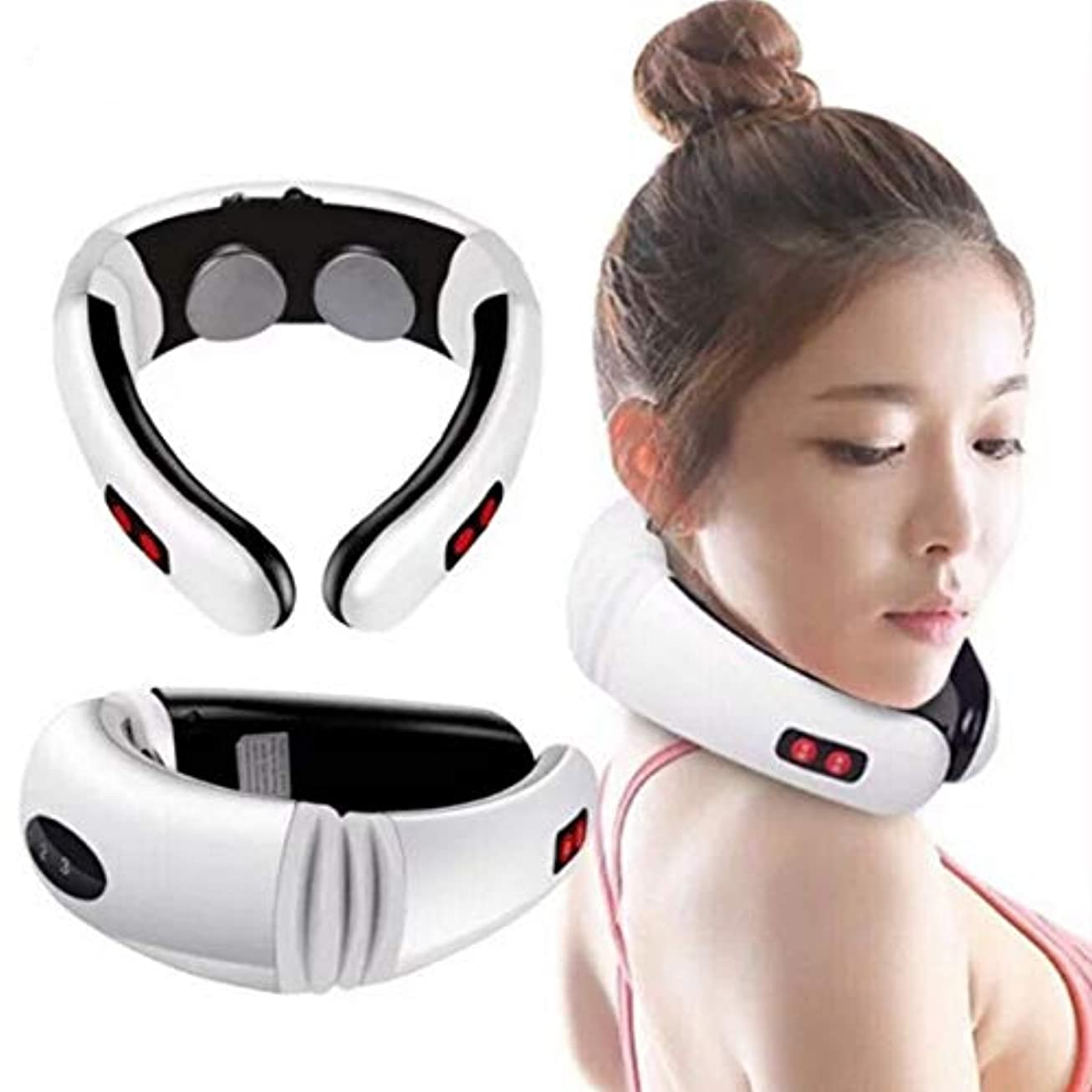 打ち負かす霊ひどいWireless Massager, Electric Pulse Cervical Massager, For Neck Body Shoulder Relax Massage, Muscle Pain Relief,...