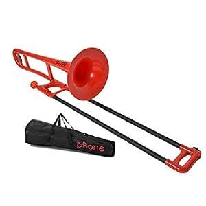 pBONE(ピーボーン) プラスチック製トロンボーン カラー:レッド