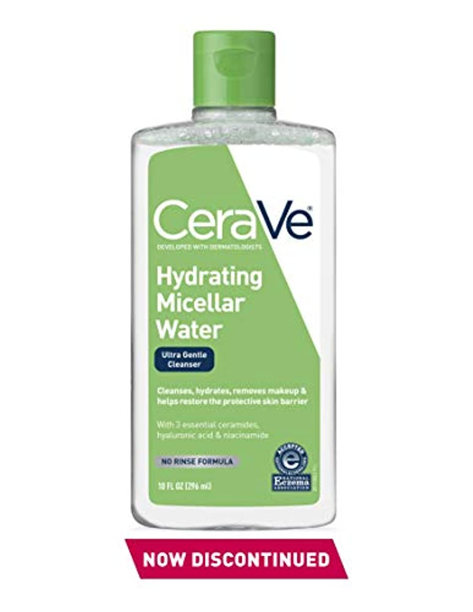 舞い上がる人種ラグセラビィ ジェントルクレンジングウォーター 10オンスCeraVe Hydrating Micellar Cleansing Water, Ultra Gentle Cleanser and Makeup Remover - 10oz