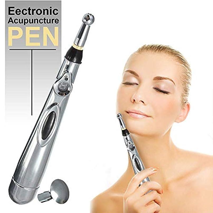 アンソロジー弾性背の高い3つのマッサージヘッドの強力な経絡エネルギーペンの救助の苦痛用具機能エネルギー苦痛療法の救助が付いている電子刺鍼術のペン