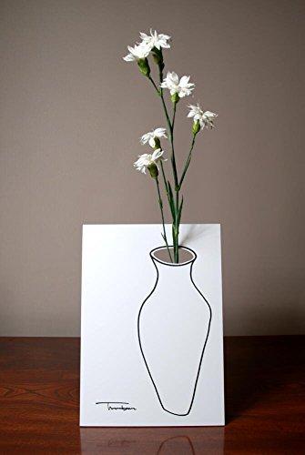 RoomClip商品情報 - Flase(フレイス) 絵から花が飛び出す2D花瓶 (ホワイト)