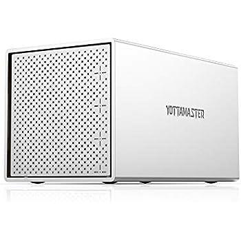 Yottamaster (4Bay) HDDケース 3.5インチ USB3.1 GEN-1 Type-C接続 SATAⅢ 4台搭載可能 外付けハードディスクケース アルミ合金 ドライブケース シルバー[PS400C3]