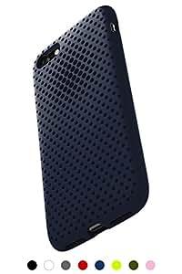 AndMesh iPhone 8 ケース / iPhone 7 ケース, メッシュケース Qi 充電 対応 耐衝撃| ネイビー 紺 AMMSC701-NVY