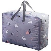 衣類キルトオックスフォード布ストレージバッググレースワンパターン高品質の旅行オーガナイザー羽毛布団キルト衣類移動仕上げ荷物袋 (サイズ さいず : 60 * 50 * 28cm)