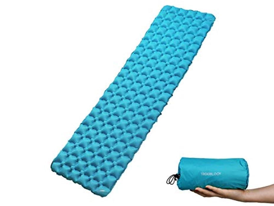 従事した隔離アンドリューハリディTrekologyインフレータブルスリーピングパッド、睡眠用キャンプマット-コンパクト軽量キャンプマット、超軽量バックパック用快適マット、ハンモックテントのアウトドア用マットとして最適