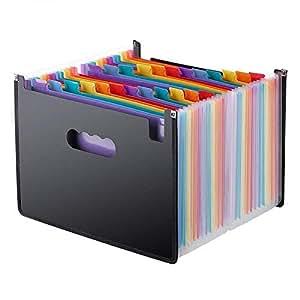 ドキュメントスタンド A4 書類ケース ファイルボックス 24分類 大容量 耐用