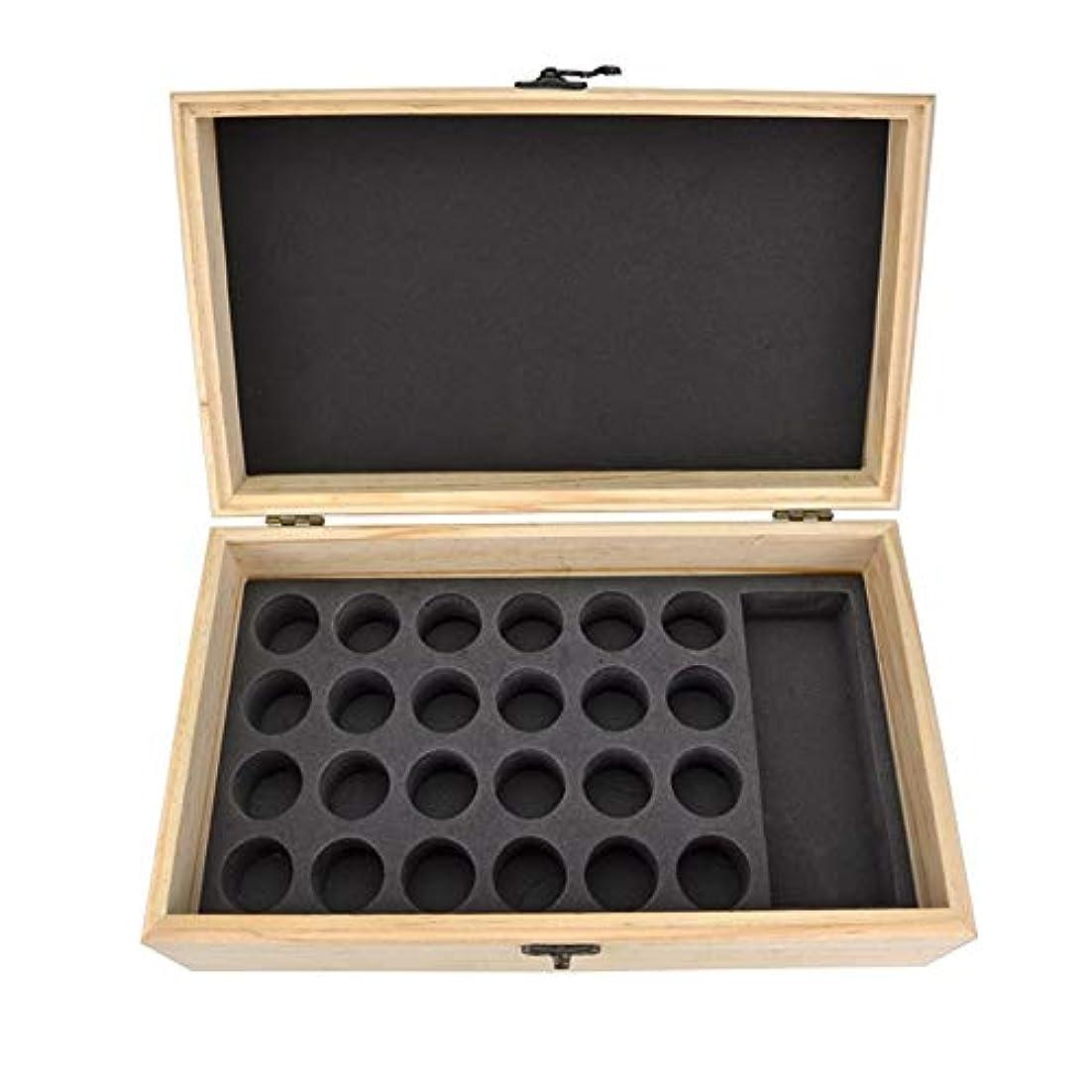 在庫不定マインドフルエッセンシャルオイル収納ボックス 25スロット木製エッセンシャルオイル木製ボックスオイルの収納ケースは、25本のボトルナチュラルパインを開催します (色 : Natural, サイズ : 28.8X16.7X10CM)