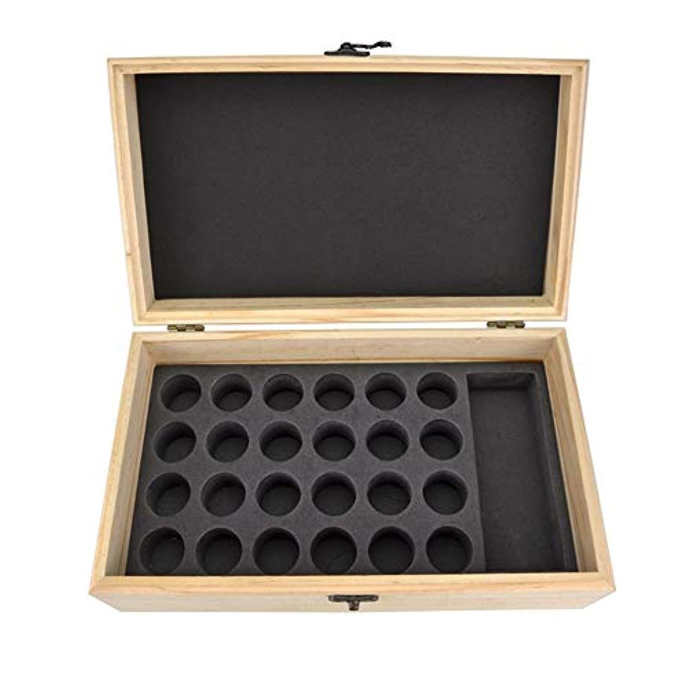 長いですお別れ貨物エッセンシャルオイル収納ボックス 25スロット木製エッセンシャルオイル木製ボックスオイルの収納ケースは、25本のボトルナチュラルパインを開催します (色 : Natural, サイズ : 28.8X16.7X10CM)