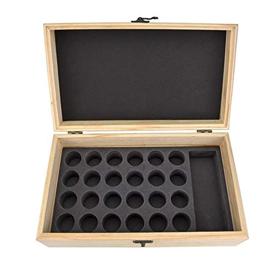 ジョージバーナード書き込みコジオスコエッセンシャルオイル収納ボックス 25スロット木製エッセンシャルオイル木製ボックスオイルの収納ケースは、25本のボトルナチュラルパインを開催します (色 : Natural, サイズ : 28.8X16.7X10CM)
