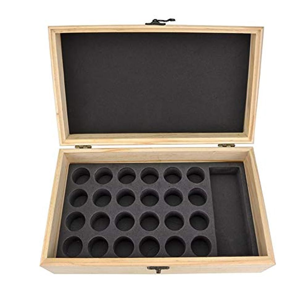 サイレン学んだ囲むエッセンシャルオイル収納ボックス 25スロット木製エッセンシャルオイル木製ボックスオイルの収納ケースは、25本のボトルナチュラルパインを開催します (色 : Natural, サイズ : 28.8X16.7X10CM)