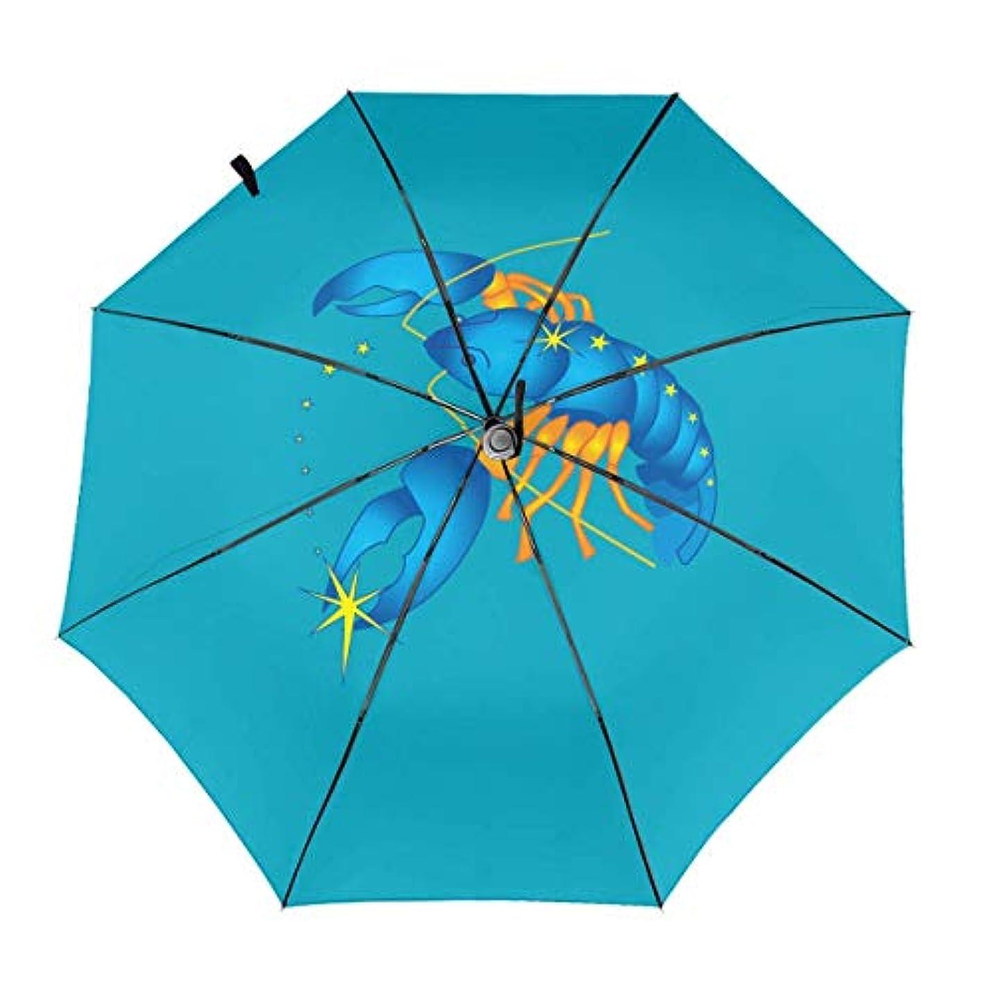 クーポン健康スナップ蠍さそり座 折りたたみ傘 ワンタッチ自動開閉 軽量 ワンタッチ 日傘 晴雨兼用 Uvカット 紫外線対策 頑丈な8本骨 耐風 撥水