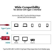 FidgetGear ノートパソコンのMacBookのサムスンS8用のHDMIケーブル4KアダプタコンバータへのUSB3.1 Type-C