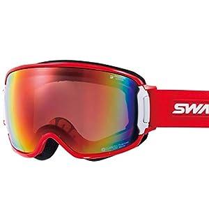 【国産ブランド】SWANS(スワンズ) スキー スノーボード ゴーグル くもり止め プレミアムアンチフォグ搭載 ミラー 撥水 メガネ使用可 RIDGELINE
