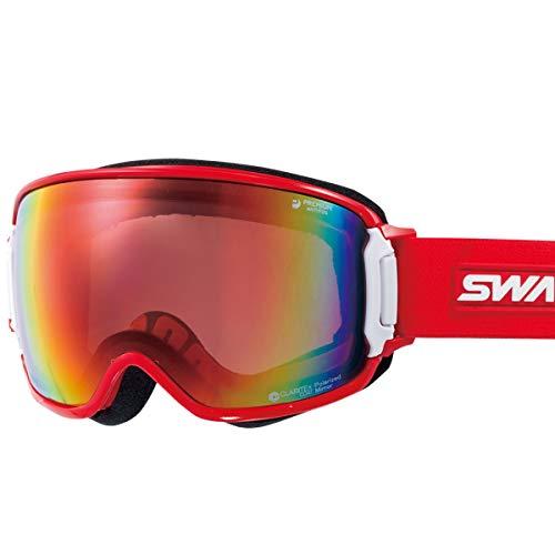 【国産ブランド】SWANS(スワンズ) スキー スノーボード ゴーグル くもり止め プレミアムアンチフォグ搭載 ミラー 偏光 撥水 メガネ使用可 スキー スノーボード RIDGELINE-MPDH-SC-PAF R