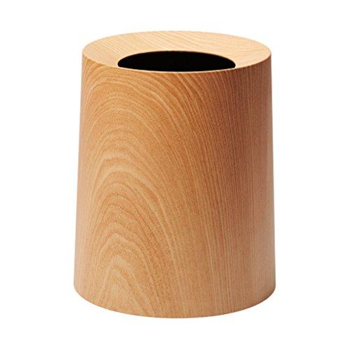イデアコ ゴミ箱 チューブラー オム オークウッド 11.4L