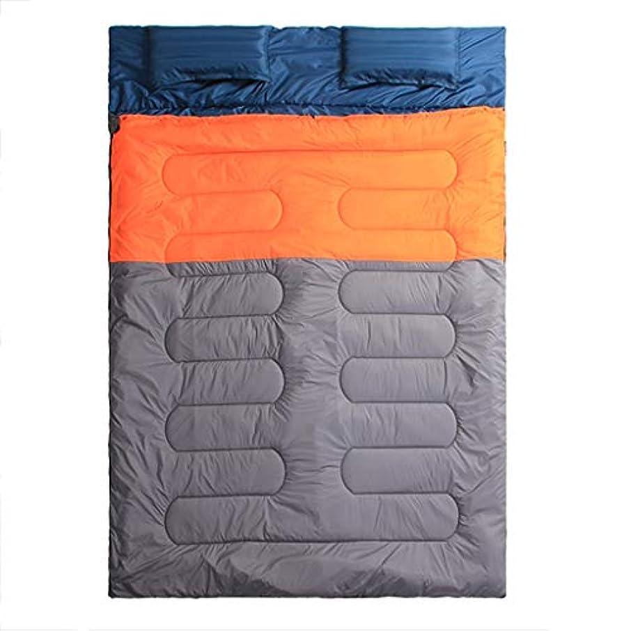 黄ばむ後悔ケイ素キャンプの寝袋屋外の寝袋二重寝袋屋内と屋外の肥厚暖かいポータブルに適した GBYGDQ (Color : Orange)