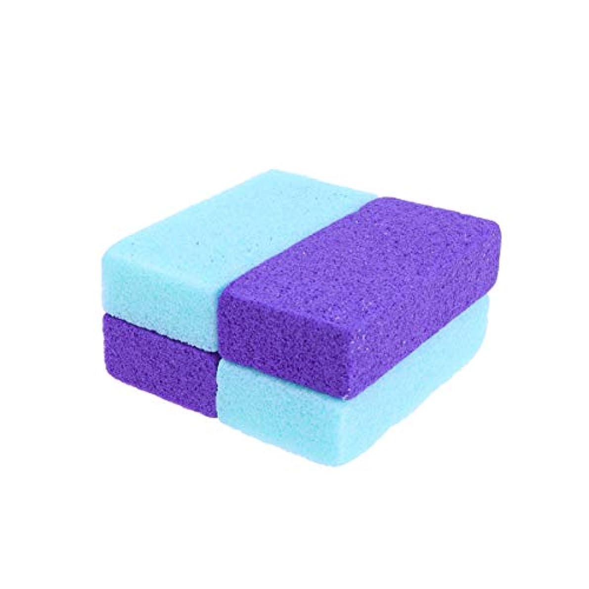 作動する移植サンダースSUPVOX 4ピース軽石石カルスリムーバー用足かかとペディキュア剥離自然足ファイル剥離ツール手ボディ
