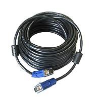 topeed 30ft 10mオスtoオスM / M VGA SVGA D - Subケーブルリードfor PCモニタCRT。。。