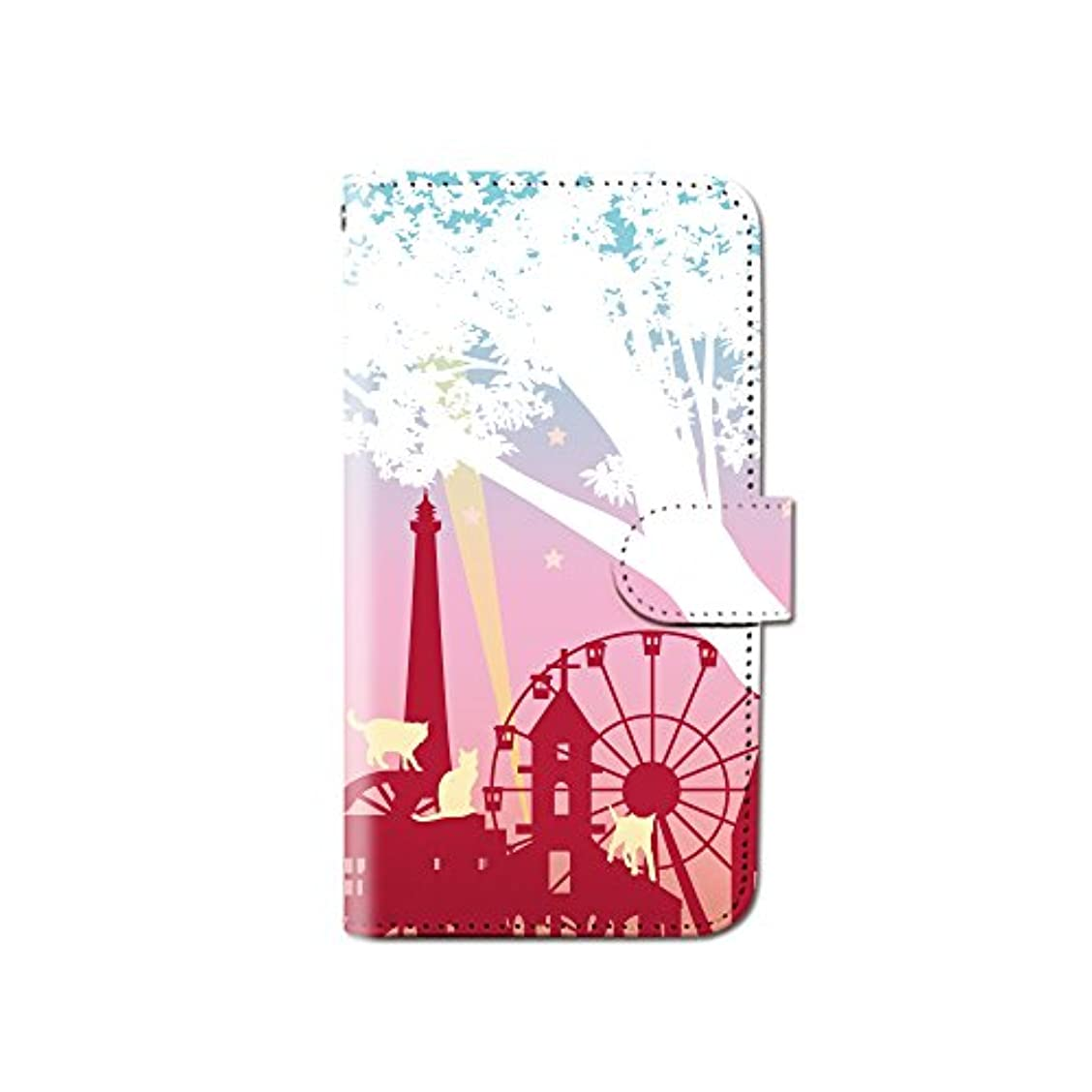 カブ感謝している名詞iPhone7 (4.7) iPhone7 猫 遊園地 ねこ アニマル スマホケース 手帳型 マグネット式 カード収納 dy001-00333-02 iPhone7 (4.7インチ):M