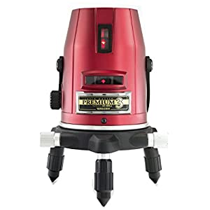山真製鋸(YAMASHIN) レーザーマスタープレミアム (レーザー墨出し器) 本体+受光器 2.5倍明るいヤツ PM-3-J