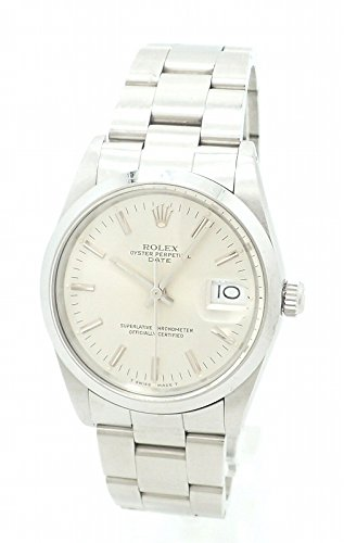 [ロレックス] ROLEX オイスター パーペチュアル デイト シルバー文字盤 SS メンズ AT オートマ 腕時計 R番 15000 [中古]
