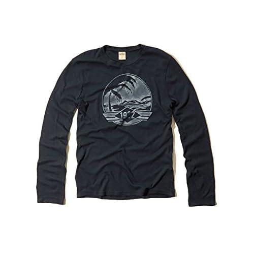 (ホリスター) Hollister Co. ホリスター メンズ ロンT 長袖 Tシャツ ロングスリーブ [ネイビー/グラフィックプリント1922] 並行輸入品 Sサイズ