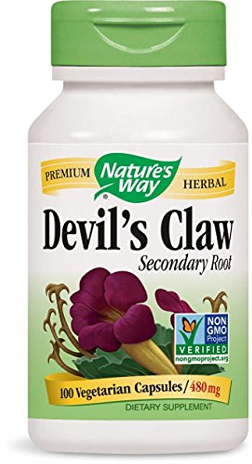 動脈粒分子海外直送品Nature's Way Devil's Claw, 100 Caps (Pack of 2)