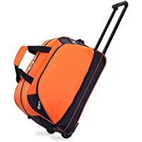 TONGSH Luggage Rolling Travel Rolling Duffel Trip Tote Bag Luggage Trolley Case Carry-on Travel Bag (Color : Orange)