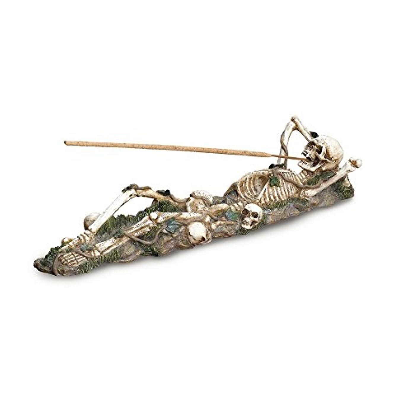 スリーブバリア途方もないGifts & Decor Skeleton Incense Burner Holder Collector Halloween Gift by Gifts & Decor