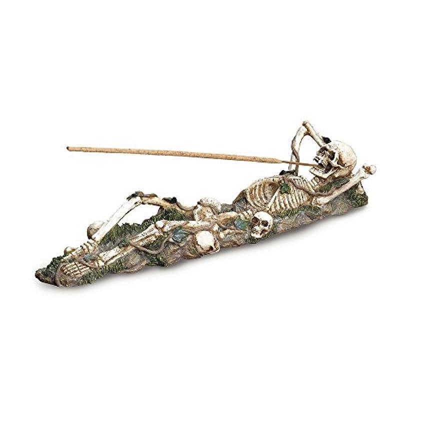 処理するネックレット農業Gifts & Decor Skeleton Incense Burner Holder Collector Halloween Gift by Gifts & Decor
