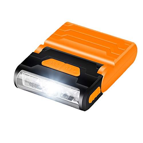 LEDキャップライト、ポータブルハンズフリークリップキャップ...