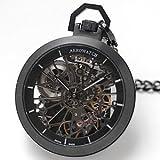 アエロ(AERO)懐中時計 Cobweb 50818NO01 SQ スケルトン ブラックPVD【正規輸入品】