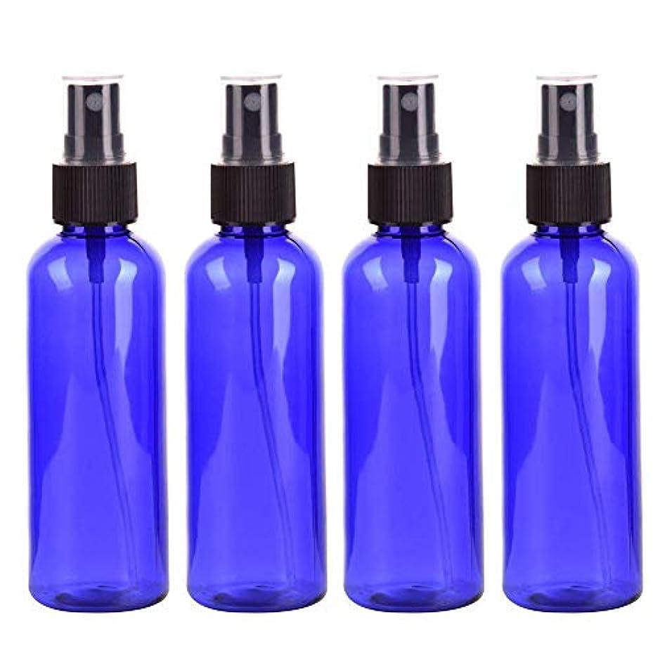 常識バウンドバックスプレーボトル 化粧品ボトル 霧吹き 漏れ防止 化 PETボトル プラスチック 100ML 4本