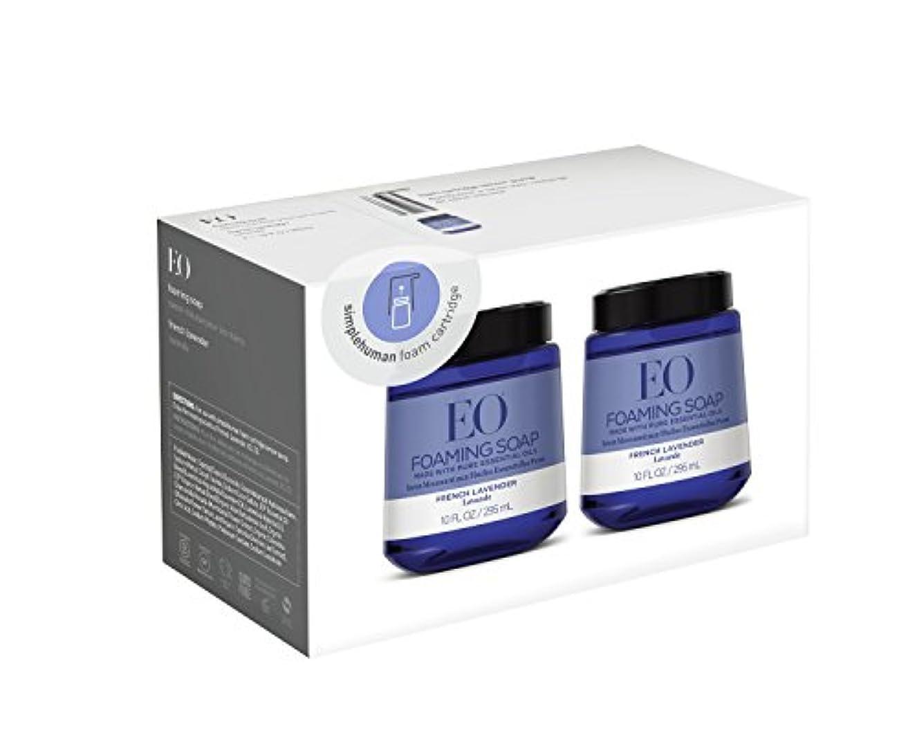 名声魔術発言するEO French Lavender Foam Hand Soap, 10 fl。オンスFoamカートリッジ(2パック)