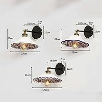 ZYN セラミックウォールライト - 青と白の磁器セラミックウォールランプヴィンテージパーソナリティレストラン衣料品店寝室装飾照明器具 ZYNSF (色 : C)