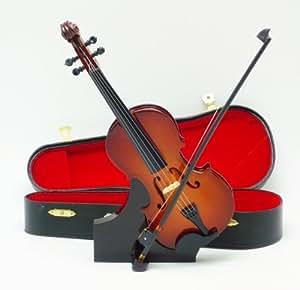 飾り物 ケース付きミニチュア バイオリン 23cm