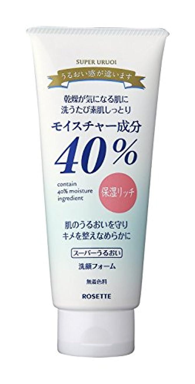 ウイルス策定する参加者ロゼット 40%SPうるおい洗顔 増量タイプ